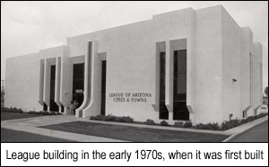 League building in the early 1970s when it was first built.